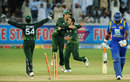 Saeed Ajmal is congratulated on dismissing Thisara Perera, Pakistan v Sri Lanka, 3rd ODI, Dubai, November 18, 2011