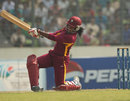 Stacy-Ann King hits one of three sixes, West Indies v Bangladesh, women's 50-over match, Mirpur, Women's World Cup Qualifier, November 20, 2011