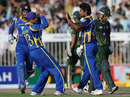 Seekkuge Prasanna sends Mohammad Hafeez on his way, Pakistan v Sri Lanka, 4th ODI, Sharjah, November 20, 2011