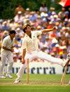 Rod McCurdy bowls, 1985