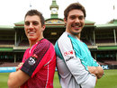 Pat Cummins and Nick Buchanan strike a pose during a Big Bash League media session, Syndey, November 24, 2011