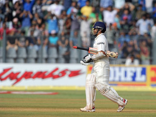 Sachin Tendulkar walks off for 94, India v West Indies, 3rd Test, Mumbai, 4th day, November 25, 2011