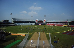 The Barabati Stadium, the venue for the first ODI between India and West Indies, Cuttack, November 28, 2011
