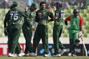 Pakistan get together after a wicket