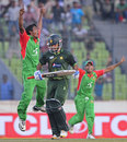 Rubel Hossain celebrates dismissing Sarfraz Ahmed