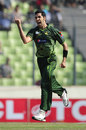 Umar Gul is pumped up after taking a wicket, Bangladesh v Pakistan, 1st ODI, Mirpur, December 1, 2011