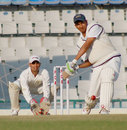 Sanjay Bangar hits out during his half-century, Punjab v Railways, Ranji Trophy Elite League, 4th round, Mohali, December 2, 2011