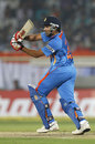Rohit Sharma plays a cross-batted shot, India v West Indies, 2nd ODI, Visakhapatnam, December 2, 2011