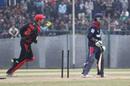Nepal's Binod Bhandari loses his middle stump against Hong Kong during the ACC Twenty20 CUp 2011 match at Tribhuvan University Ground in Kathmandu on 3rd December 2011