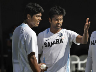Vinay Kumar (right) finally gets a chance with the Test outfit