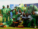 Mountaineers celebrate winning the Stanbic Bank 20 final