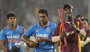 Darren Sammy takes a stump as a souvenir of West Indies' win, India v West Indies, 3rd ODI, Ahmedabad, December 5, 2011