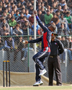 Yohan Gedara opens the bowling for Kuwait against Hong Kong at the ACC Twenty20 Cup in Kathmandu