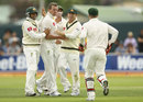 Australia get together after a wicket
