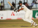 Younis Khan clips the ball to the leg side