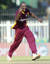 Anthony Martin celebrates the wicket of Gautam Gambhir, India v West Indies, 5th ODI, Chennai, December 11, 2011
