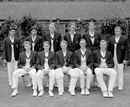 The Oxford University XI that played the 1959 Varsity match. (Back row, from left): Abbas Ali Baig, Javed Burki, David Green, Charles Fry, Andrew Corran, John Raybould. (Front row:) Dan Piachaud, Richard Jowett, Alan Smith, Michael Eagar, David Sayer, Oxford University v Cambridge University, University Match, Lord's, July 13, 1959