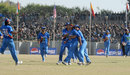 Afghanistan celebrate a wicket during their victory, Afghanistan v Hong Kong, Asian Cricket Council Twenty20 Cup final, Kirtipur, December 11, 2011