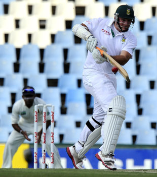 Graeme Smith works a ball to the leg side, South Africa v Sri Lanka, 1st Test, Centurion, 1st day, December 15, 2011