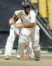 Manprit Juneja takes a run during his debut double-hundred