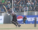 UAE's Shaiman Anwar flicks the ball to the leg side against Hong Kong at the ACC Twenty20 Cup 2011 in Kathmandu on 6th December 2011