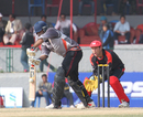 UAE's Vikrant Shetty batting against Hong Kong at the ACC Twenty20 Cup 2011 in Kathmandu on 6th December 2011