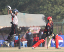 Babar Hayat is caught behind by UAE wicket-keeper Abdul Rehman during the ACC Twenty20 Cup 2011 match in Kathmandu on 6th December 2011