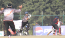 UAE's Abdul Rehman spills a stumping chance against Hong Kong at the ACC Twenty20 Cup 2011 in Kathmandu on 6th December 2011