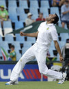 Imran Tahir celebrates having Thisara Perera caught at slip, South Africa v Sri Lanka, 1st Test, Centurion, 3rd day, December 17, 2011