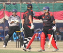 Moner Ahmed intervenes after Courtney Kruger and UAE's Abdul Rehman exchange a few pleasantries