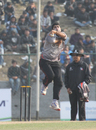 UAE's Ahmed Raza took 3-20 against Hong Kong at the ACC Twenty20 Cup 2011 in Kathmandu on 6th December 2011