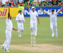 Vernon Philander appeals for one of his five wickets, South Africa v Sri Lanka, 1st Test, Centurion, 3rd day, December 17, 2011