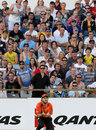 Nathan Rimmington lines up to take a catch, Perth Scorchers v Hobart Hurricanes, December, 18, 2011