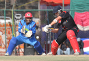 Courtney Kruger shapes to cut the ball against Afghanistan during the ACC Twenty20 Cup 2011 final in Kathmandu on 11th December 2011