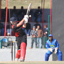 Courtney Kruger is bowled in the ACC Twenty20 Cup 2011 final against Afghanistan