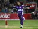 Naved-ul-Hasan ran through the Sydney Sixers' tail, Hobart Hurricanes v Sydney Sixers, BBL, Hobart, December 21, 2011