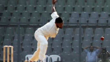 Balwinder Sandhu bowls on debut