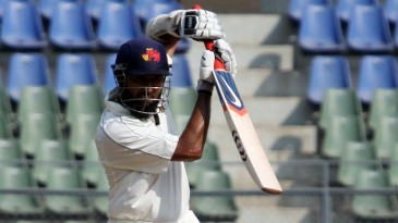 Wasim Jaffer drives during his half-century
