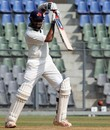 Wasim Jaffer drives during his half-century, Mumbai v Punjab, Ranji Trophy Elite, Mumbai, 2nd day, December 22, 2011