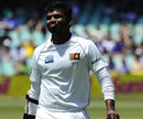 A rueful Tharanga Paranavitana walks off