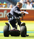 Ian Healy became the segway camera's second victim in two days, Australia v India, 1st Test, Melbourne, 3rd day, December 28, 2011