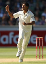 Umesh Yadav celebrates the dismissal of Peter Siddle