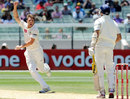 James Pattinson is ecstatic after snagging VVS Laxman, Australia v India, 1st Test, Melbourne, 4th day, December 29, 2011