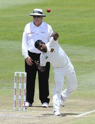 Rangana Herath dismissed Jacques Kallis for a duck, South Africa v Sri Lanka, 2nd Test, Durban, 4th day, December 29, 2011
