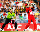 Brad Hodge launches one into the leg side, Sydney Thunder v Melbourne Renegades, BBL 2011-12, Sydney, December 30, 2011