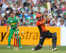 Herschelle Gibbs drives during his innings of 69, Melbourne Stars v Perth Scorchers, BBL 2011-12, MCG, January 4, 2012