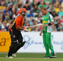 Herschelle Gibbs sets off for a run, Melbourne Stars v Perth Scorchers, BBL 2011-12, MCG, January 4, 2012