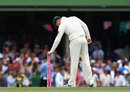 Michael Clarke claims a souvenir after his near-perfect Test, Australia v India, 2nd Test, Sydney, 4th day, January 6, 2012