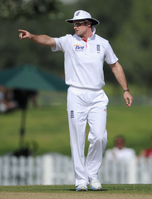 Andrew Strauss back leading England for the first time since August, ICC Combined XI v England XI, Dubai, 1st day, January 7, 2012