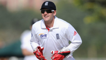 Steve Davies kept wicket for England